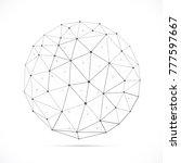 vector dimensional white... | Shutterstock .eps vector #777597667