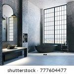 contemporary loft bathroom... | Shutterstock . vector #777604477