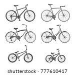 set of bicycle icons | Shutterstock .eps vector #777610417