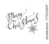 merry christmas  text... | Shutterstock . vector #777613447
