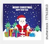 merry christmas background | Shutterstock .eps vector #777613813