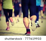 many runners during the country ... | Shutterstock . vector #777619933