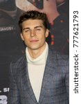"Small photo of Nolan Gerard Funk attends the Netflix ""Bright"" premiere on Dec. 13, 2017 at the Regency Village Theatre in Los Angeles, CA."