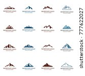 mountain logo template vector... | Shutterstock .eps vector #777622027