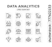 set line icons of data... | Shutterstock . vector #777622153