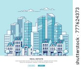 cityscape. real estate and...   Shutterstock .eps vector #777624373