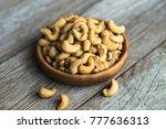cashew nuts. whole cashew... | Shutterstock . vector #777636313