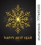 happy new year vector greeting... | Shutterstock .eps vector #777645103
