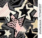 star shapes graffiti seamless... | Shutterstock .eps vector #777649207