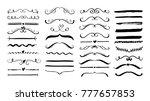 set of handmade grunge text... | Shutterstock .eps vector #777657853