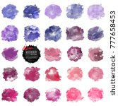 set of watercolor stain. vector ... | Shutterstock .eps vector #777658453