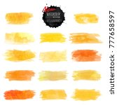 set of watercolor stain. vector ... | Shutterstock .eps vector #777658597