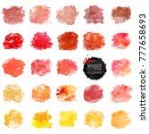 set of watercolor stain. vector ... | Shutterstock .eps vector #777658693