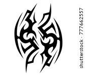 tattoo tribal vector design....   Shutterstock .eps vector #777662557