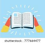vector cartoon colorful funny... | Shutterstock .eps vector #777664477