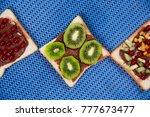 homemade tasty fresh sandwich... | Shutterstock . vector #777673477