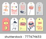 amusement park tags and labels... | Shutterstock .eps vector #777674653