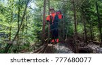 young lumberjack standing on... | Shutterstock . vector #777680077