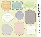 elegant vintage frame template | Shutterstock .eps vector #777687673