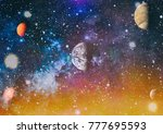 planets  stars and galaxies in... | Shutterstock . vector #777695593