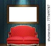 mock up 3d vintage frame... | Shutterstock . vector #777699787