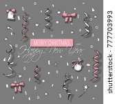 new year greeting card designd... | Shutterstock .eps vector #777703993