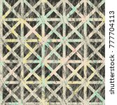 halftone geometric vintage... | Shutterstock .eps vector #777704113