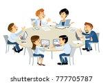 illustration of business...   Shutterstock .eps vector #777705787