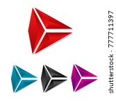 set of colorful icon 3d arrow... | Shutterstock .eps vector #777711397
