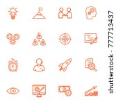 set of 16 idea outline icons... | Shutterstock .eps vector #777713437