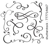 vintage flourish decorative art ... | Shutterstock . vector #777714667