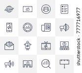 set of 16 commercial outline...   Shutterstock .eps vector #777716977