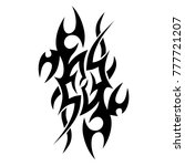 tattoo tribal vector design.... | Shutterstock .eps vector #777721207