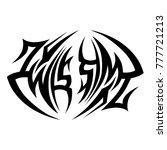 tattoo tribal vector design.... | Shutterstock .eps vector #777721213