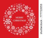 merry christmas and white...   Shutterstock .eps vector #777722053