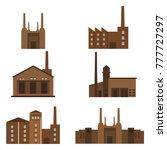 set of  industrial brick... | Shutterstock .eps vector #777727297