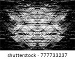 grunge black and white urban... | Shutterstock .eps vector #777733237