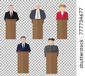 presidential speaks to people... | Shutterstock .eps vector #777734677