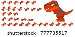 dinosaur game character for... | Shutterstock .eps vector #777735517