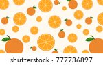 seamless pattern mixed orange... | Shutterstock .eps vector #777736897