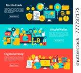 bitcoin horizontal banners.... | Shutterstock .eps vector #777737173