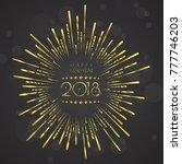 greeting card design template... | Shutterstock .eps vector #777746203