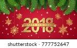 happy new year 2018 banner... | Shutterstock .eps vector #777752647