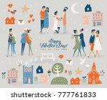 valentine's day vector greeting ... | Shutterstock .eps vector #777761833