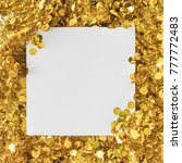 creative layout made of golden... | Shutterstock . vector #777772483
