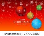 christmas light vector...   Shutterstock .eps vector #777773803