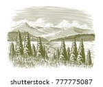 woodcut illustration of a... | Shutterstock .eps vector #777775087