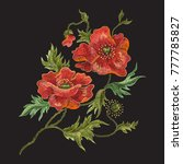 embroidery floral pattern with... | Shutterstock .eps vector #777785827