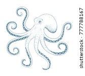 hand drawn octopus. vector... | Shutterstock .eps vector #777788167