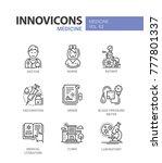 medicine   line design icons... | Shutterstock .eps vector #777801337